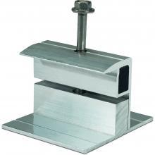 Klema końcowa 34-42mm, na dach płaski, srebrna