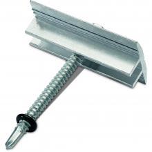 Klema środkowa 28-42mm, na dach płaski, srebrna