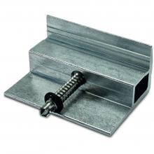 Klema końcowa 34-42mm, dach płaski, montaż długi bok, srebrna